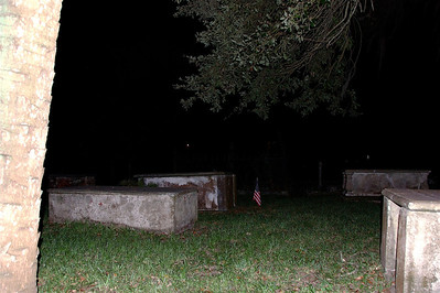 Ghost Tour visit to old cemetary in St. Augustine, FL. © Nora Kramer. All rights reserved.