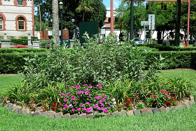 Flower Garden in Front of The Lightner Museum, St. Augustine, FL. © Nora Kramer. All rights reserved.