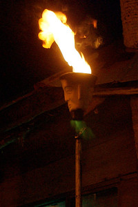 Tiki Torch at The Conch House in St. Augustine, FL. © Nora Kramer. All rights reserved.