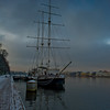 A tall ship on teh Bolshaya Neva in Saint Petersburg, Russia.  Photo by: Stephen Hindley ©