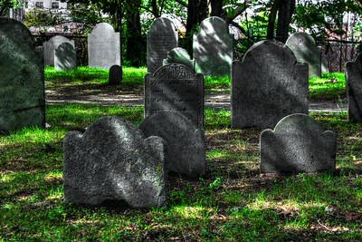 Graves at the Burying Point, Salem Massachusetts