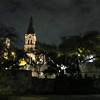 Night time shot of one of the old churches in town.