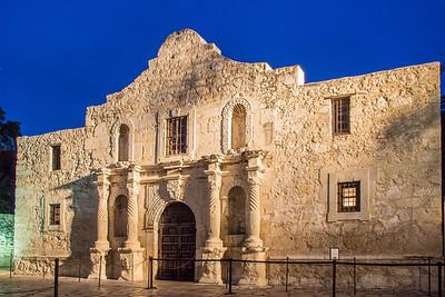 The Alamo at twilight