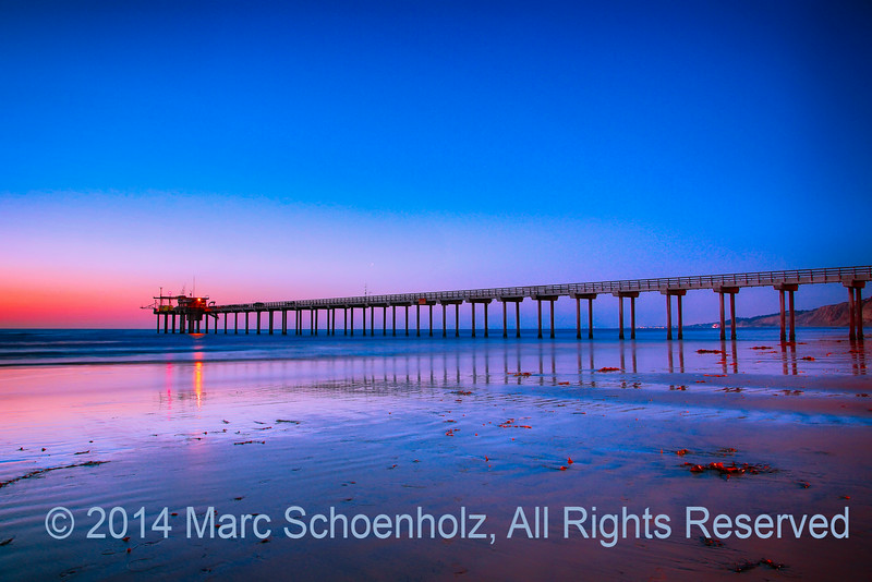 Sunset, calm sea, beauty . . .  Scripps Pier; II
