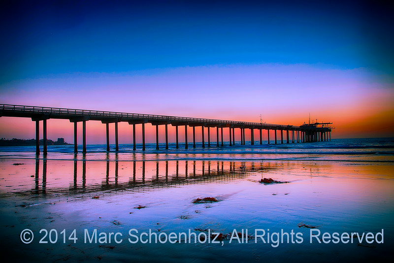 Sunset, calm sea, beauty . . .  Scripps Pie
