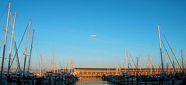 Harbor and Blimp  San Francisco, CA  September 18, 2009