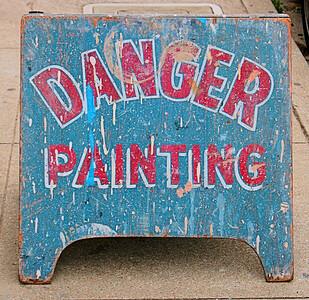 Danger Painting  San Francisco, CA  September 19, 2009