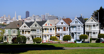 San Francisco's famous Painted Ladies.