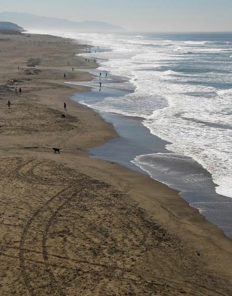 Ocean Beach from the Cliff House - San Francisco, CA