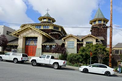 Leaning church