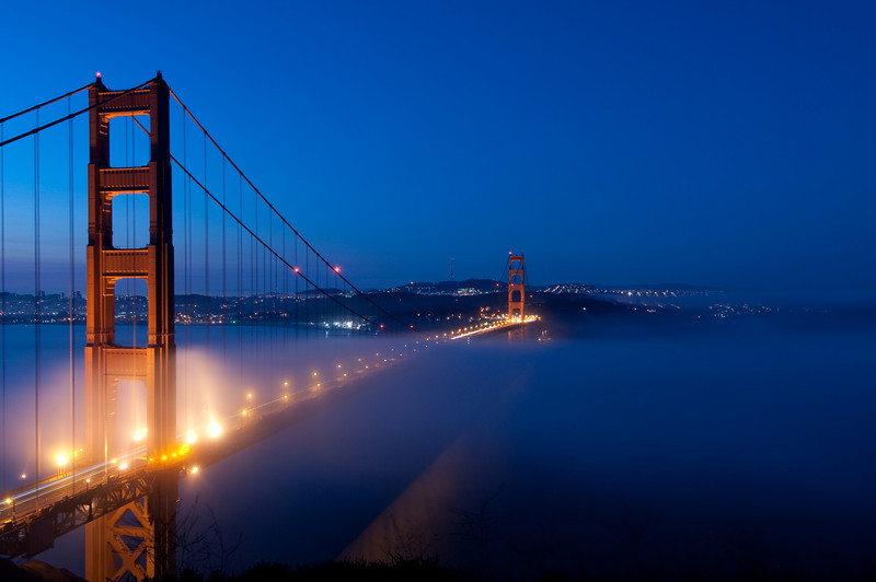 Enveloping Fog<br /> Golden Gate Bridge, California<br /> 2008