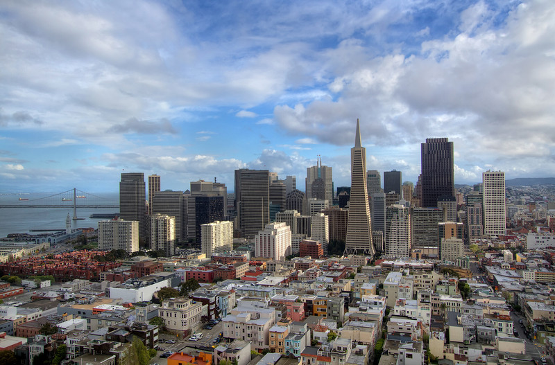 <H3>Downtown SF</H3> View of downtown SF from the top of Coit Tower