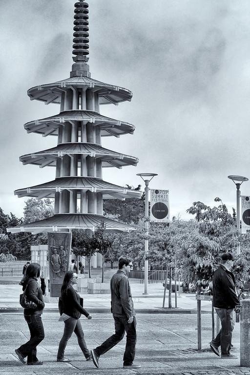 Buchanan Street, Japan Town. San Francisco.  ref: 2e74a5a9-0395-42f1-bc61-68490ae46534