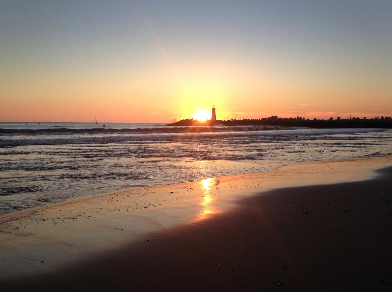 Walton Lighthouse Sunset
