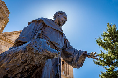 Cathedral Basilica of St. Francis of Assisi statue