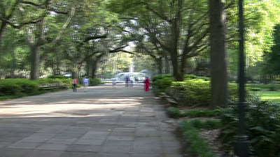 Short video of Forsyth Park and its cast-iron fountain built in 1858. The park is filled with beautiful trees.