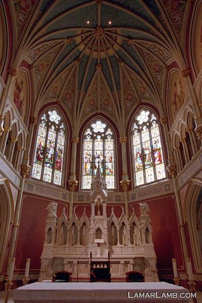 "Cathedral of St. John the Baptist. Savannah, Georgia. <a href=""http://www4.ncsu.edu/unity/users/j/jnwall/html/NikonF4FAQVersion6.0.htm"" target=""_blank"" >Nikon F4s</a> / Fuji Superia X-tra 800"