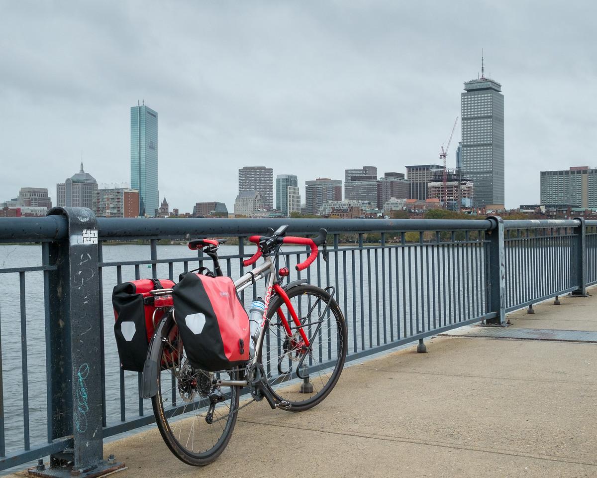 20151025.  Scarlet Seven on Massachusetts Avenue Bridge over Charles River, Boston MA.