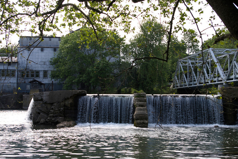 The Finley River waterfall and Mill in Ozark, MO.