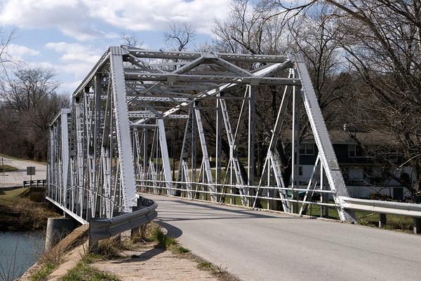 The Finley River bridge in Ozark, MO.