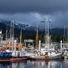 Fishing boats in Sitka Harbor, Sitka AK