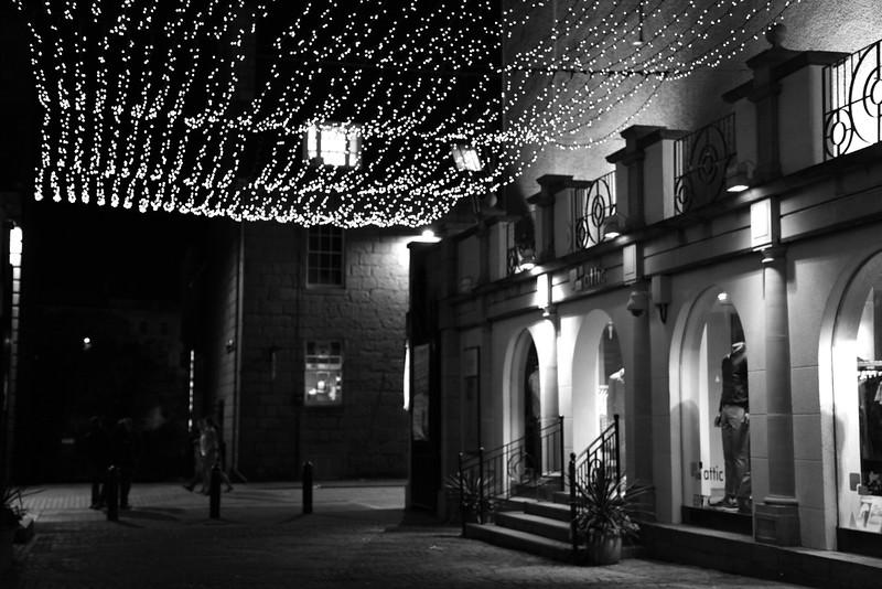 Night scene in Aberdeen's party district