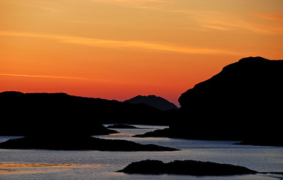 Brilliant sunset from the west shore of Iona - Scotland