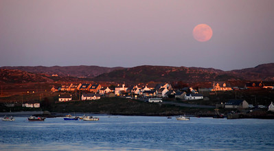 Full moon over Fionnphort - Sound of Iona - Scotland