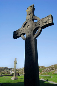 Celtic Crosses at the Abbey - Iona, Scotland