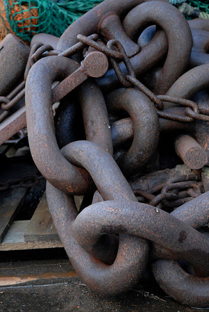 Anchor chains, University Marine Biological Station, Millport Scotland