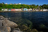 Row of colorful buildings along Tobermory Harbour, Scotland