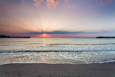 Sunrise by the seaside