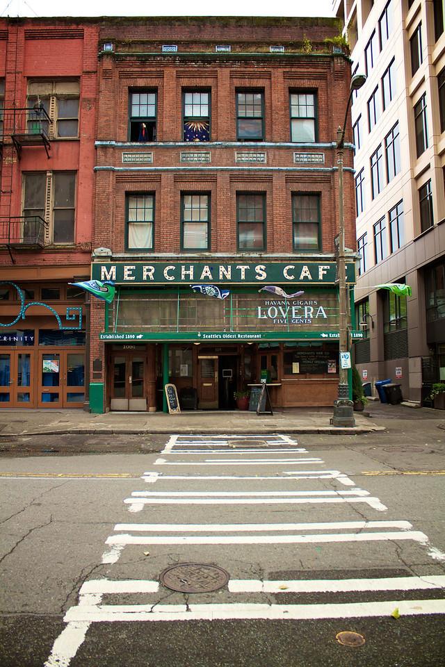 Had lunch in Seattle's Oldest Restaurant - Merchants Cafe. Built in 1890.
