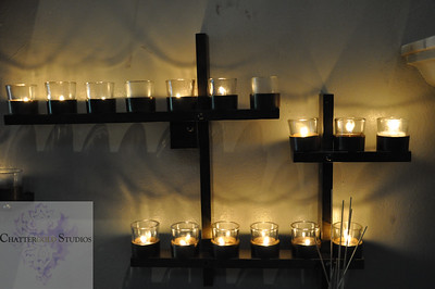 Candles in St. James Cathedral in Seattle