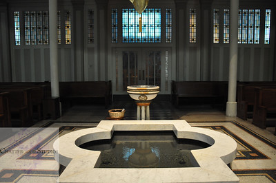 Baptismal Fountain in St. James Cathedral Seattle Washington