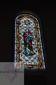 Stained Glass Window in St. James, Seattle, Washington
