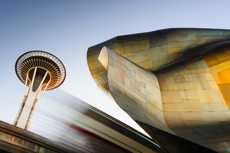 Half a second.<br /> <br /> The needle, the EMP & the elusive monorail, some of Seattle's icons.