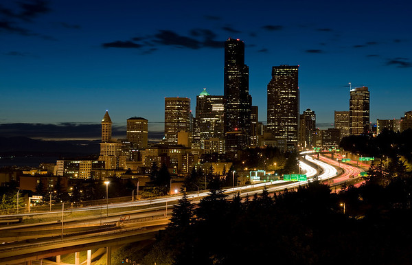 Dusk over Seattle