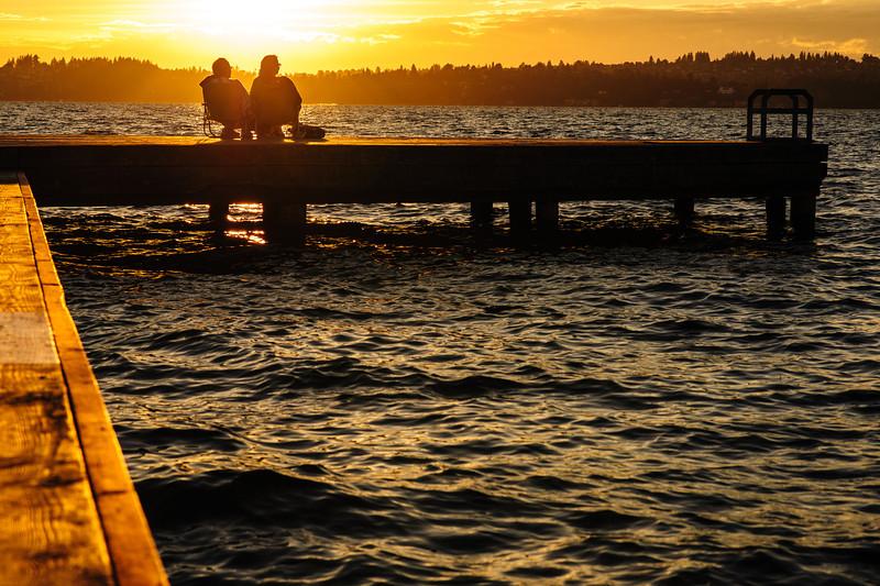 Summertime in Seattle<br /> <br /> Sunset at Houghton beach park in Kirkland<br /> <br /> Nikkor 85mm
