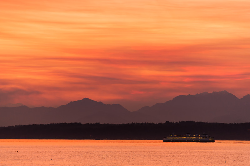 Puget Sound, Ferry and Sunset