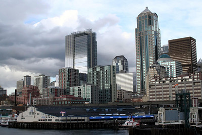 The new WaMu Center Building - Washington Mutual's Headquarter building downtown Seattle.