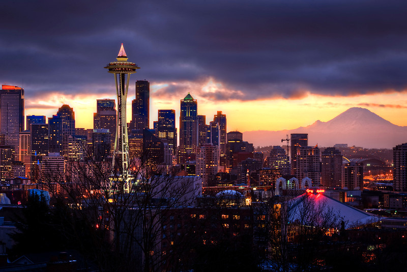 The beggining of the end - <br /> <br /> It dawns in Seattle, during the last day of 2011.<br /> <br /> 5 bracket HDR @ f16 - Nikkor 70-200VRII