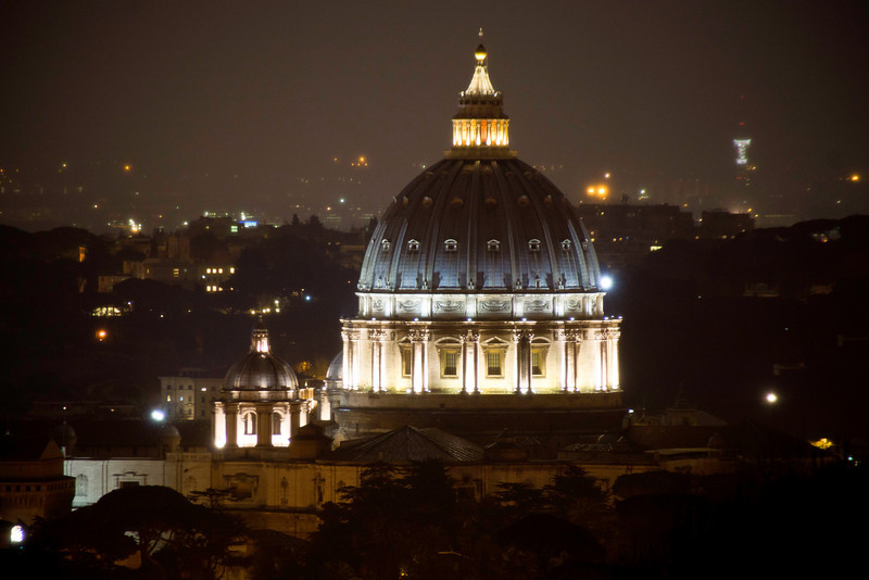 St. Peter's Basilica Evening, Roma, Italy