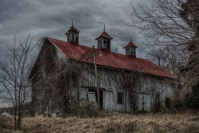 An old barn on the property.