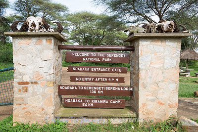Made it to Ndabaka Gate with minutes to spare... -- Serengeti National Park
