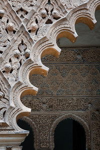Wall in the Alcazar of Seville