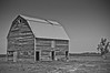 CAS_9022-2  This barn was alongside the road between Grand Island and Seward, NE.  Black and white treatment.