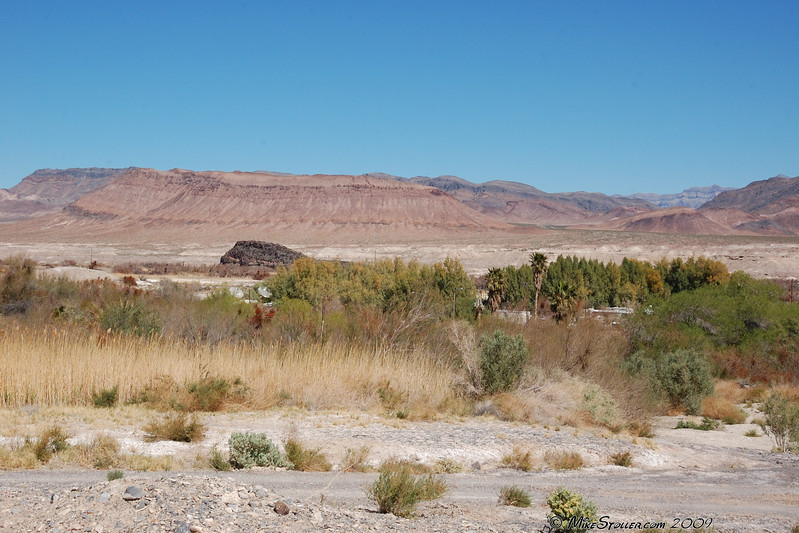 View from above Shoshone RV Park.