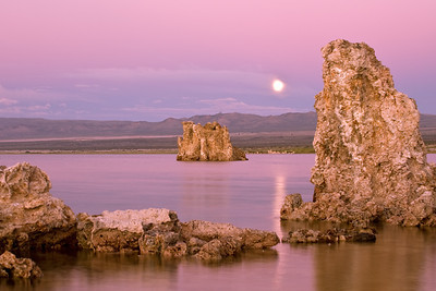 Moon over Mono  Moonrise over Mono Lake