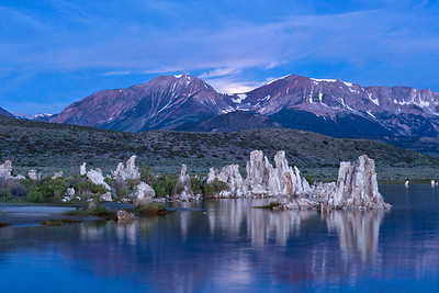 Mono Blues  Cool morning light at Mono Lake